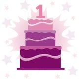 Grand gâteau posé illustration libre de droits