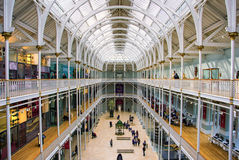 Grand Gallery of the National Museum of Scotland. royalty free stock images