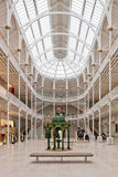 Grand Gallery-National Museum of Scotland. Interior hall of National Museum of Scotland, Edinburgh Royalty Free Stock Images