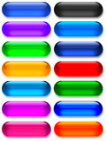 Grand gel/boutons en verre Image libre de droits