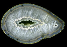 Grand geode d'agate Images libres de droits