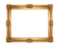 Grand gold gilt ornate rococo frame Royalty Free Stock Photography
