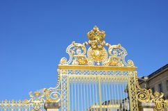 Grand Golden Gates at Entrance to Palace Royalty Free Stock Photo