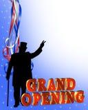 grand graphic opening Royaltyfri Foto