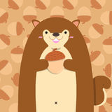 Grand gros écureuil mignon Illustration Stock