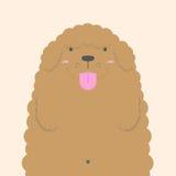 Grand gros chien de caniche blanc mignon Illustration de Vecteur