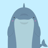 Grand gros dauphin mignon Illustration Libre de Droits