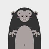 Grand gros gorille mignon Illustration Stock