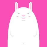 Grand gros lapin blanc mignon Illustration Stock