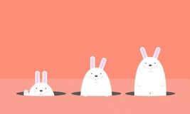 Grand gros lapin blanc mignon de Pâques Illustration Libre de Droits