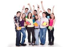 Grand groupe d'étudiants Images stock