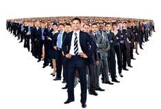 Grand groupe d'hommes d'affaires Images libres de droits