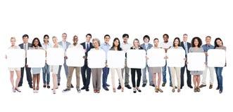 Grand groupe d'hommes d'affaires multi-ethniques images stock