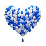 Grand groupe de ballons de réception. Forme de coeur illustration stock