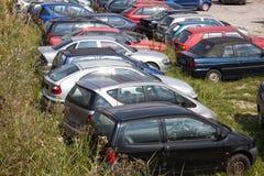 Grand groupe de chute de voitures photo libre de droits