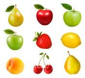 Grand groupe de fruit différent Images libres de droits