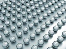 Grand groupe de perles dans les rangées illustration de vecteur