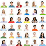 Grand groupe de personnes diverses Images stock