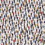 Grand groupe de personnes Fond sans couture illustration stock