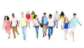 Grand groupe de personnes multi-ethniques photo libre de droits