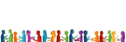 Grand groupe de personnes parler Concept de séminaire ou de conférence Association de formation de perfectionnement en gestion Éq illustration libre de droits