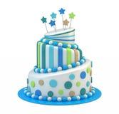 Grand gâteau de vacances Image stock