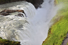 Grand Gullfoss in Iceland Stock Photography