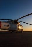 Grand hélicoptère militaire Images libres de droits