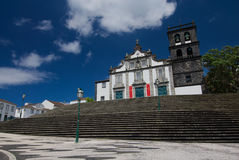 Grand hôtel de ville de Ribeira, sao Miguel Island Azores, Portugal Image libre de droits