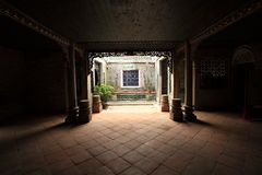 The grand hall. In the chinese house, this is use for meeting and dinner Stock Image