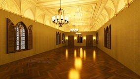 Grand hall. 3D CG rendering of grand hall Stock Photos