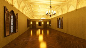 Grand hall. 3D CG rendering of grand hall Royalty Free Stock Photography