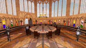 Grand hall. 3D CG rendering of a grand hall Royalty Free Stock Photos
