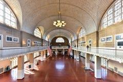 Grand hall d'Ellis Island National Park - New York photos libres de droits