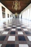 Grand hall of Kronborg castle, Denmark stock images