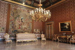 Grand hall of Napoli palace Royalty Free Stock Images