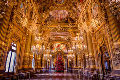 Grand Hall Of Opera Garnier. Paris, France Royalty Free Stock Photography