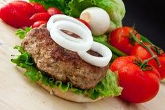 Grand hamburger Photo libre de droits