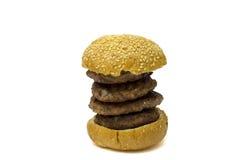 Grand hamburger d'isolement image stock