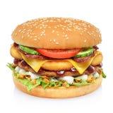 Grand hamburger grand d'isolement photos libres de droits