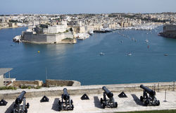 Grand harbor. The grand harbor in malta with views of fortifications and marina Royalty Free Stock Image