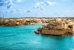 Grand Harbor, Valetta, capital of Malta Stock Images