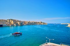 Grand Harbor of Valletta, Malta stock images