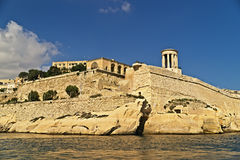 Grand harbour bastions. Valetta. Malta Stock Photos