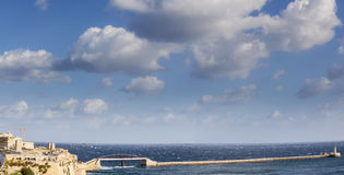 Grand Harbour Bridge. The new Grand Harbour Bridge in Valletta, Malta.  The original was destroyed by an E Boat attack in WWII Stock Photography