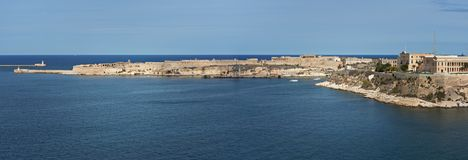 Grand Harbour and Fort Ricasoli Malta Stock Image