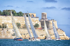 Grand harbour. Landscape of the Grand Harbour in Malta during a yachting racing competition Royalty Free Stock Image