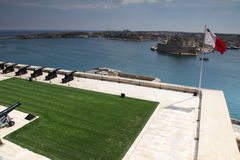 Grand harbour, Malta. From the Saluting battery at Upper Barrakka Gardens Royalty Free Stock Photo