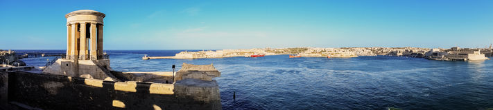 The Grand Harbour. Panoramic view of the Grand Harbour in Malta Royalty Free Stock Photo