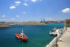 Grand Harbour. Port of Valletta. Natural harbour on the island of Malta Stock Photos